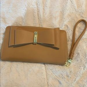 Betsey Johnson Tan Wristlet/Wallet